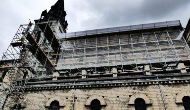 Le chantier de réhabilitation de l'Eglise du Sacré-Coeur de Lourdes