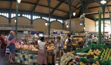 Ouverture des halles et marché