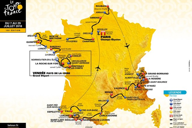 Carte Tour de France 2018 web